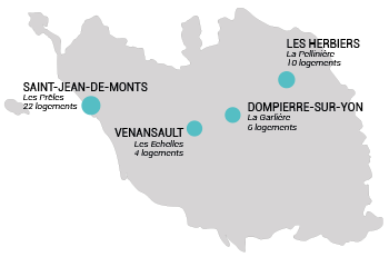 Carte logements vendée